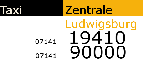 Taxizentrale Ludwigsburg | Tel.: 07141 90000 | 24/7